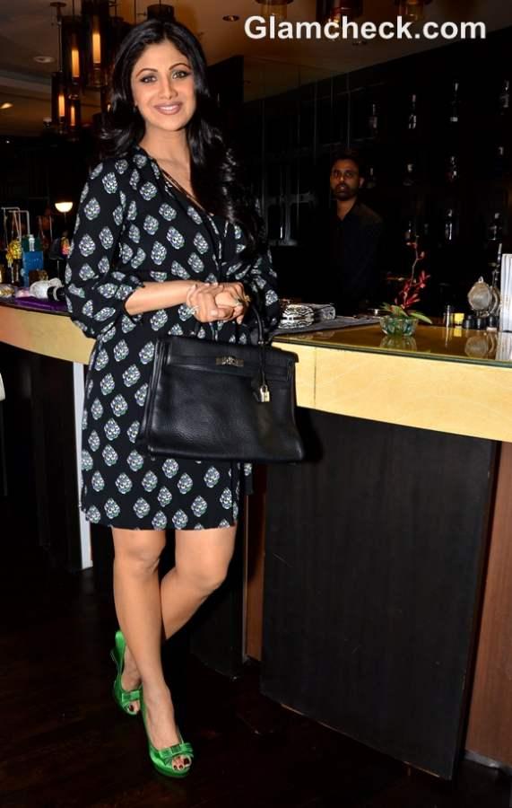 Shilpa Shetty Judith Leiber event at Arola Mumbai