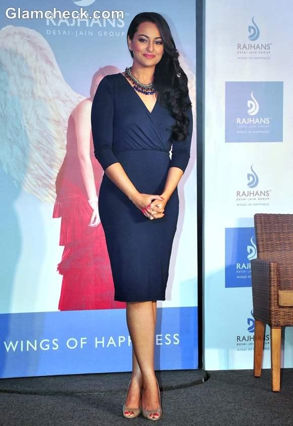 Sonakshi Sinha in dress the New Brand Ambassador for Rajhans Group