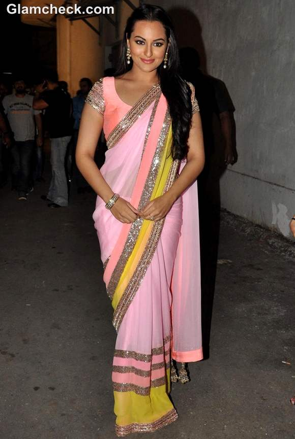 Sonakshi Sinha sa re ga ma pa in manish malhotra sari