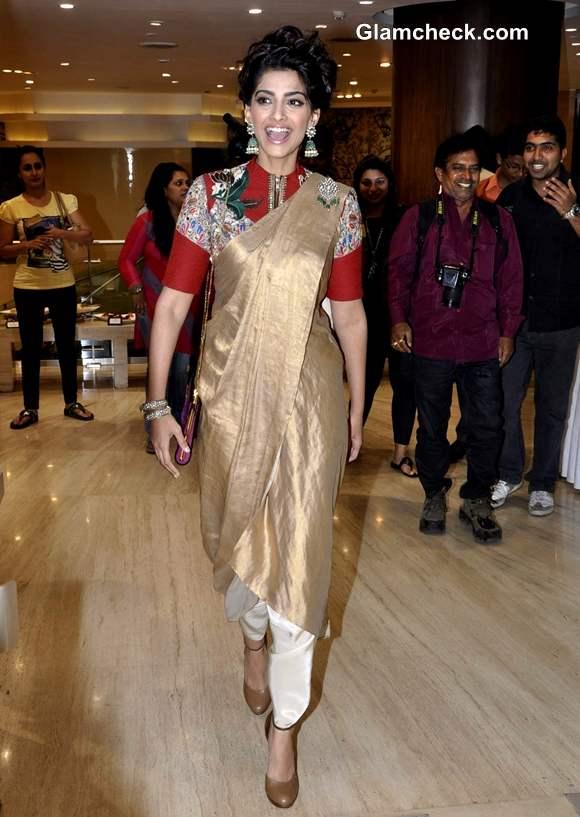 Sonam Kapoor at Salvatore Feragoma Shoe for a Star event in Trident Mumbai