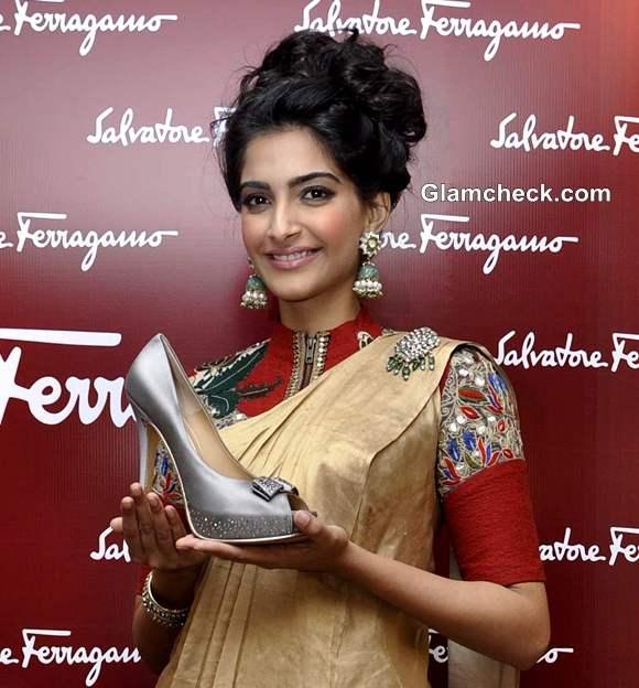 Sonam Kapoor at Salvatores Ferragamo Shoe for a Star Event