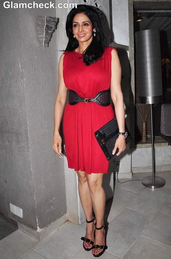 Sridevi in red dress at People Magazine Issue unveiling