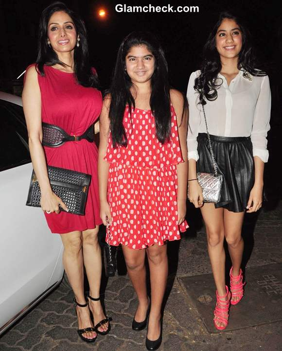 Sridevi with daughters at People Magazine Issue unveiling