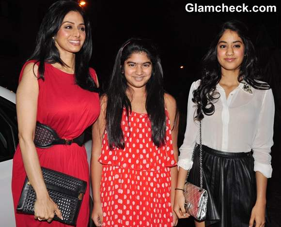 Sridevi with daughters at Unveiling Of People Magazine Issue