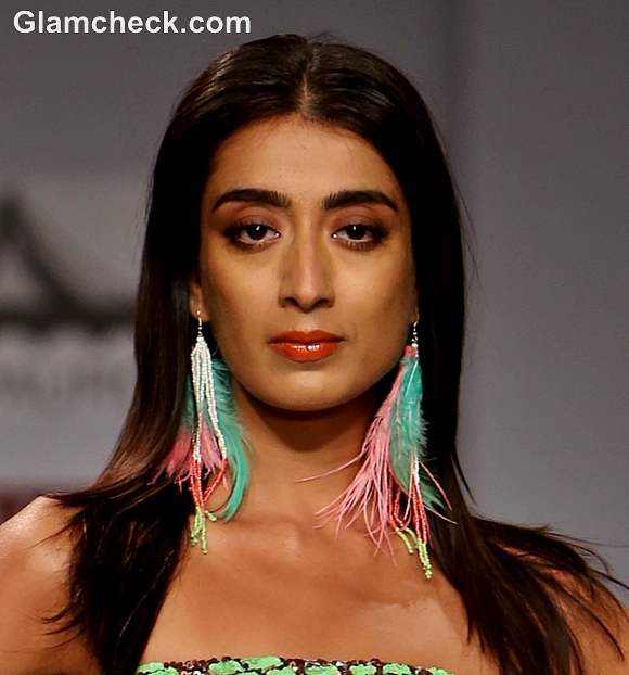 Style Pick colorful boho feather earrings s-s-2013 indian fashion