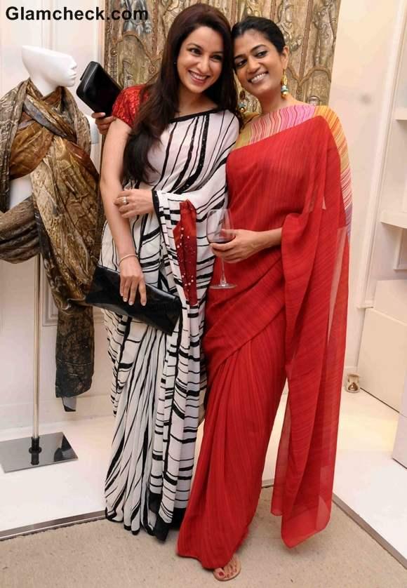 Tisca Chopra Sonia Shetty at Masaba as Satya Paul director announcement in Mumbai