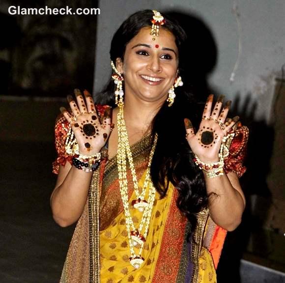 Vidya Balan Mehndi Ceremony Pictures