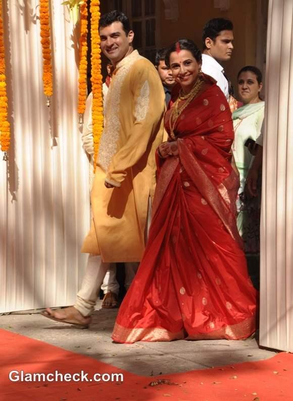 Vidya Balan and Siddharth marriage pictures