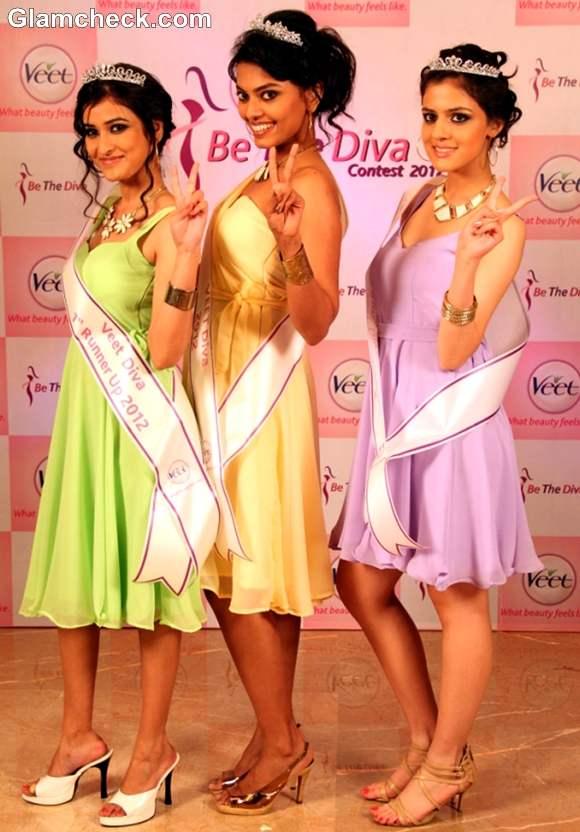 Winners of Veet Be The Diva Contest 2012