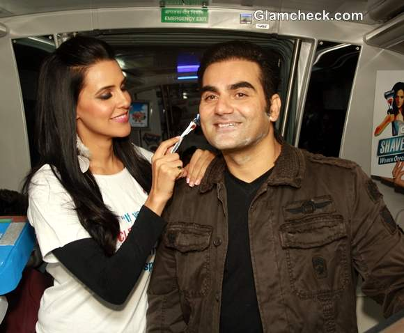 neha dhupia arbaaz khan Gillette Promotional Event