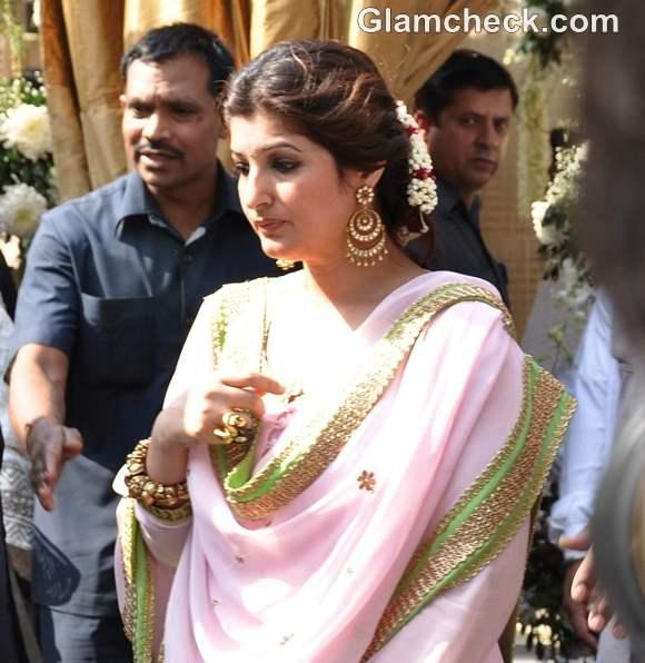 twinkle khanna at akshay kumar sisters wedding