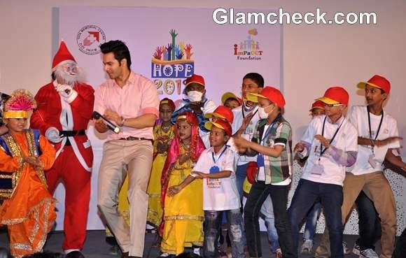 varun dhawan On Christmas At Hope 2012 Event