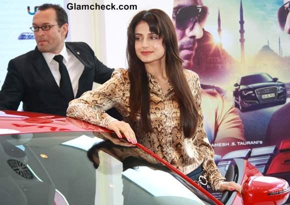 "Ameesha patel Race 2"" Unveils New AUDI Sports Cars in Delhi"