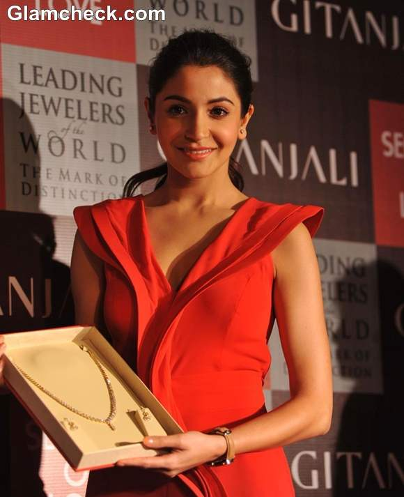 Anushka Sharma At The Collection Launch of Gitanjali Season Of Love At Trident BKC Mumbai
