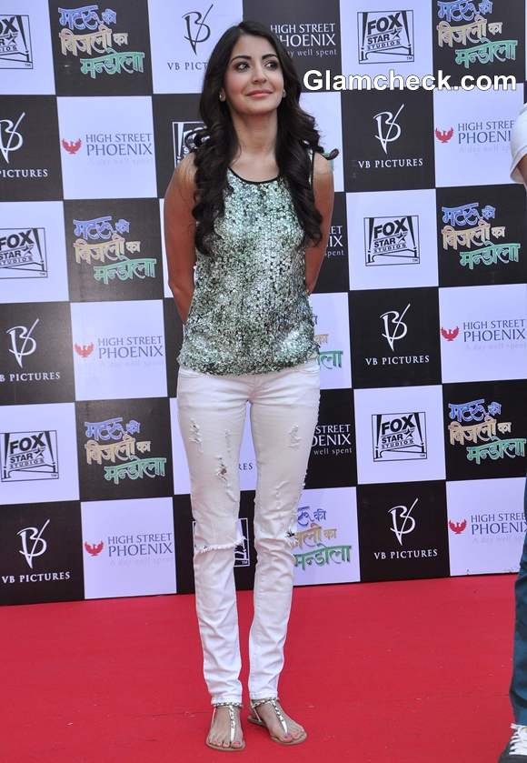 Anushka Sharma Matru Ki Bijlee Ka Mandola At Phoenix Mall Mumbai