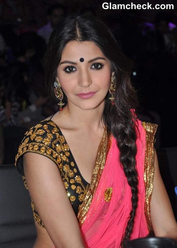 Anushka Sharma hairstyle makeup Nach Baliye
