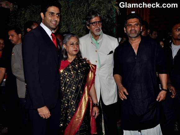 Bachchan family at Sunil Shetty R House Store Launch in Worli Mumbai
