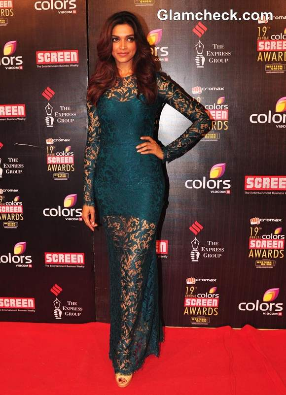 Deepika Padukone In Dolce Gabbana At The 19th Annual Colors Screen Awards