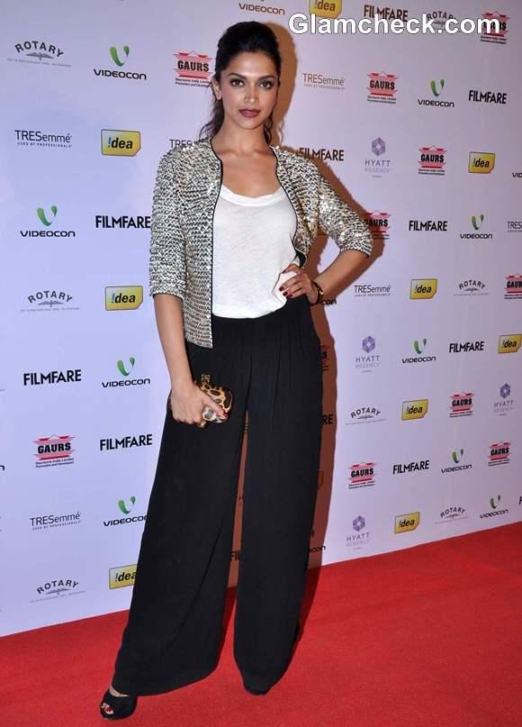 Deepika Padukone outfit 2013 Filmfare Award Nominations
