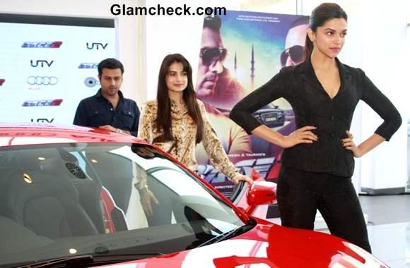 Deepika Padukone sexy 2013 Unveils New AUDI Sports Cars in Delhi