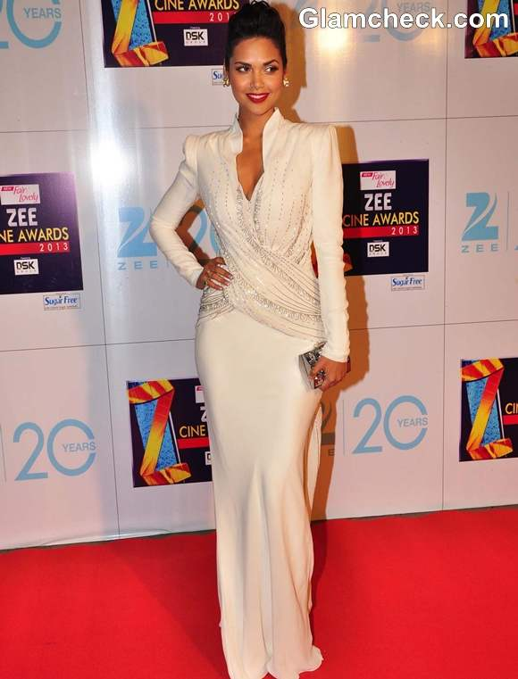 Esha Gupta in dior gown Zee Cine Awards 2013