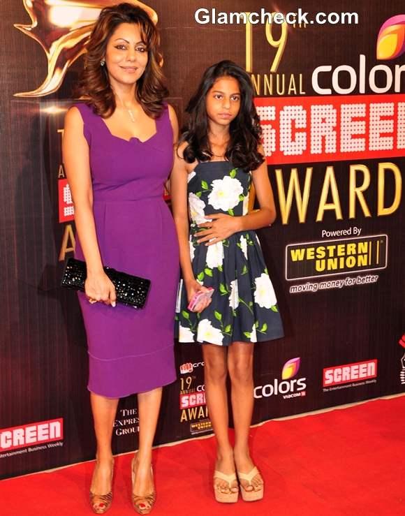 Gauri Khan with her daughter Suhana Khan