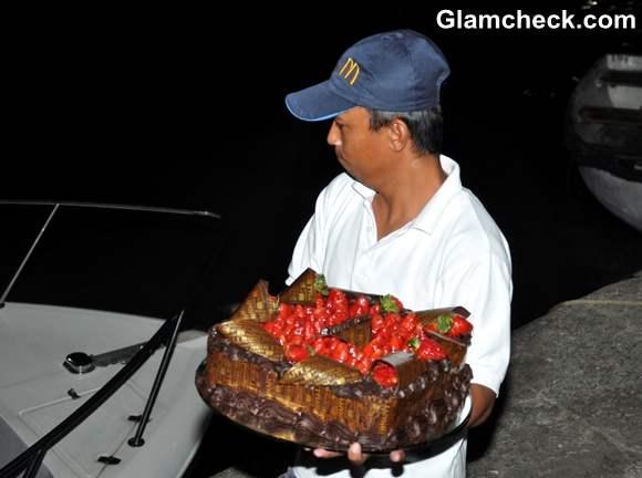 Hrithik Roshan Birthday cake On A Luxury Yacht