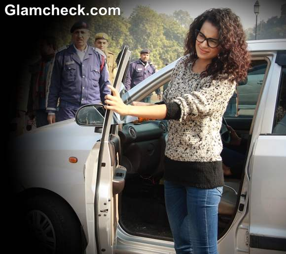 Kangana Ranaut At India Gate During Safety Campaign For Women