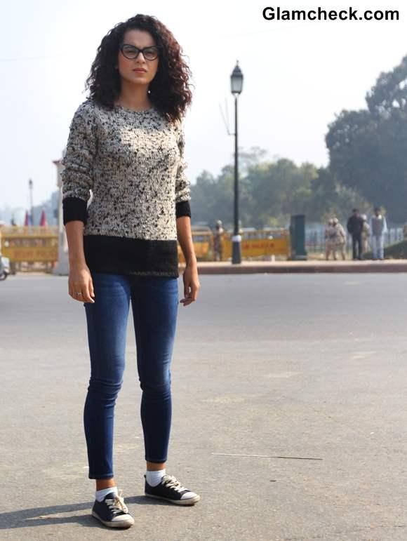 Kangana Ranaut casual winter style india gate women safety campaign