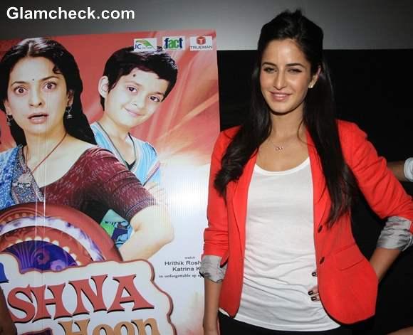 Katrina Kaif At The Screening Of Main Krishna Hoon With NGO Kids At Cinemax In Mumbai