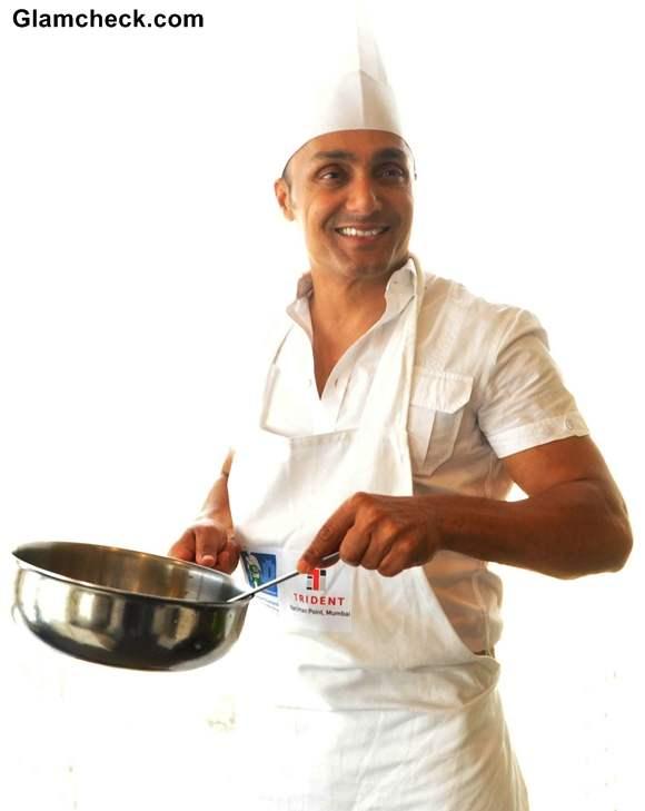 Rahul Bose during Marathon  pasta lunch 2013
