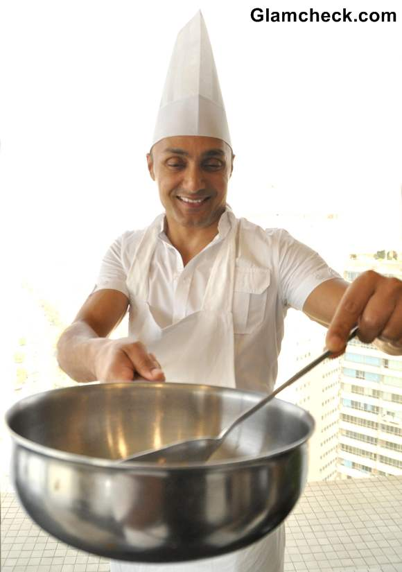 Rahul Bose during a pasta lunch
