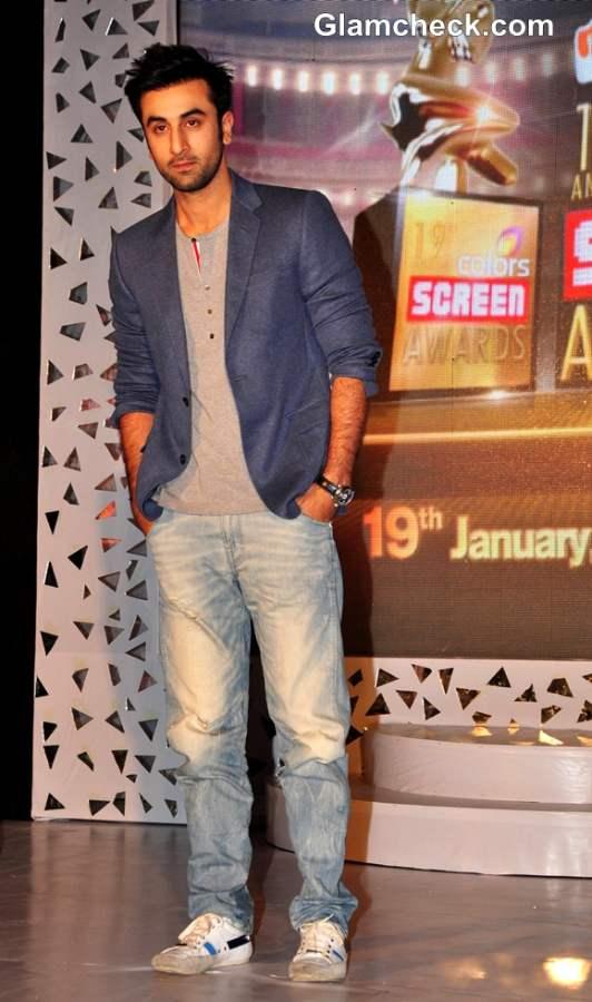 Ranbir Kapoor At 19th Annual Colors Screen Awards 2013