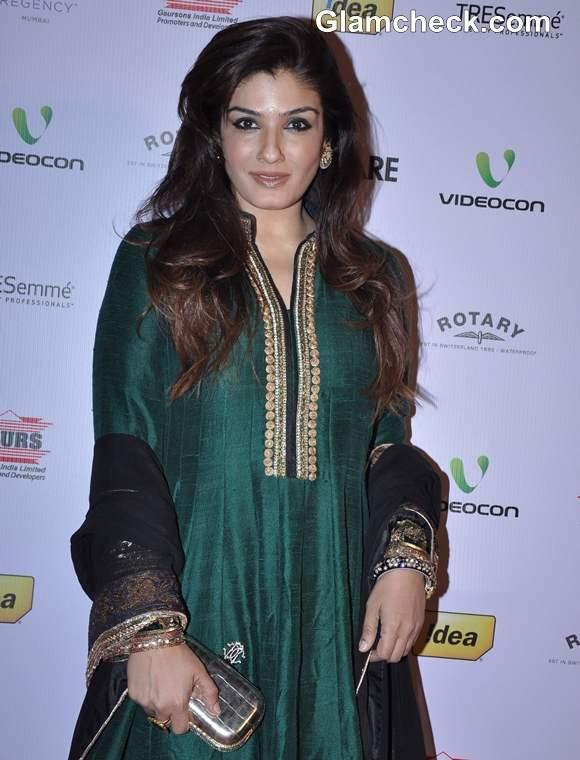 Raveena Tandon 2013 at 58th Idea Filmfare Awards Nominations