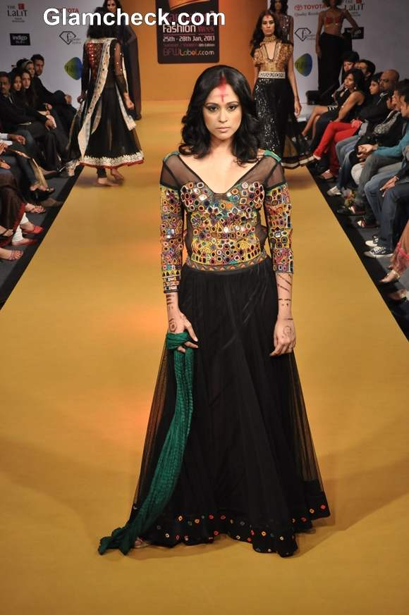 Rina Dhaka show Bangalore Fashion Week Summer Showers 2013
