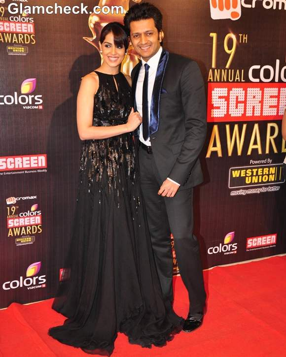 Ritesh Deshmukh Genelia Dsouza  2013 Colors Screen Awards