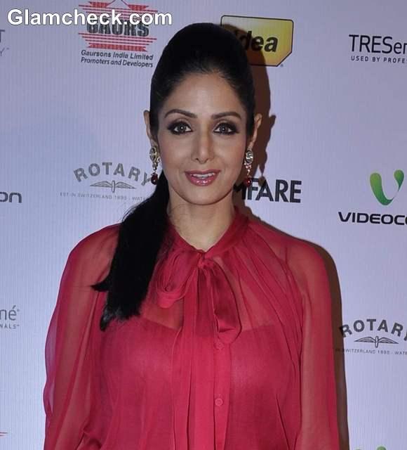 Sridevi 2013 at 58th Idea Filmfare Awards Nominations