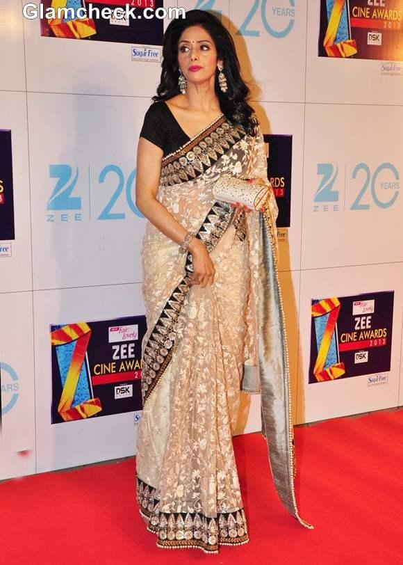 Sridevi In Sabyasachi At Zee Cine Awards 2013