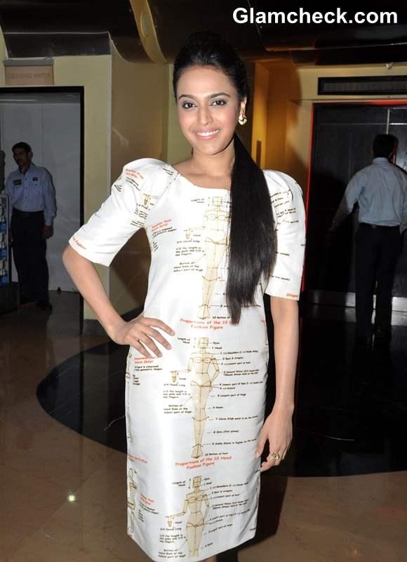 Swara Bhaskar at the first look of film Listen Amaya in PVR Cinemas