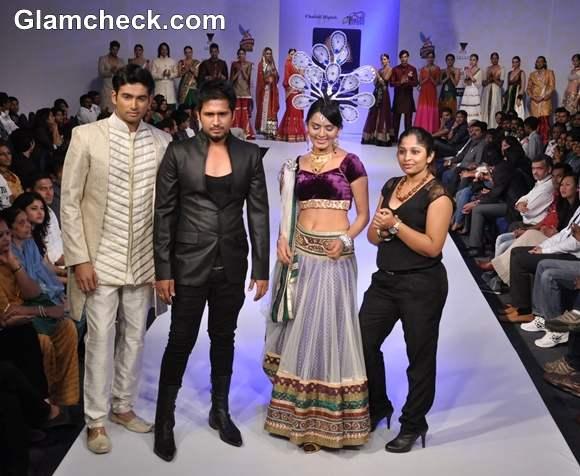 Vatsala Avinash Rupa G with Sindhu Lokknath Bangalore Fashion Week Summer Showers 2013
