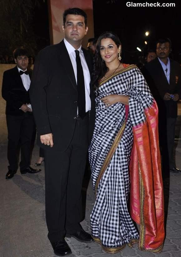Vidya Balan with husband Siddharth Roy Kapur filmfare awards 2013