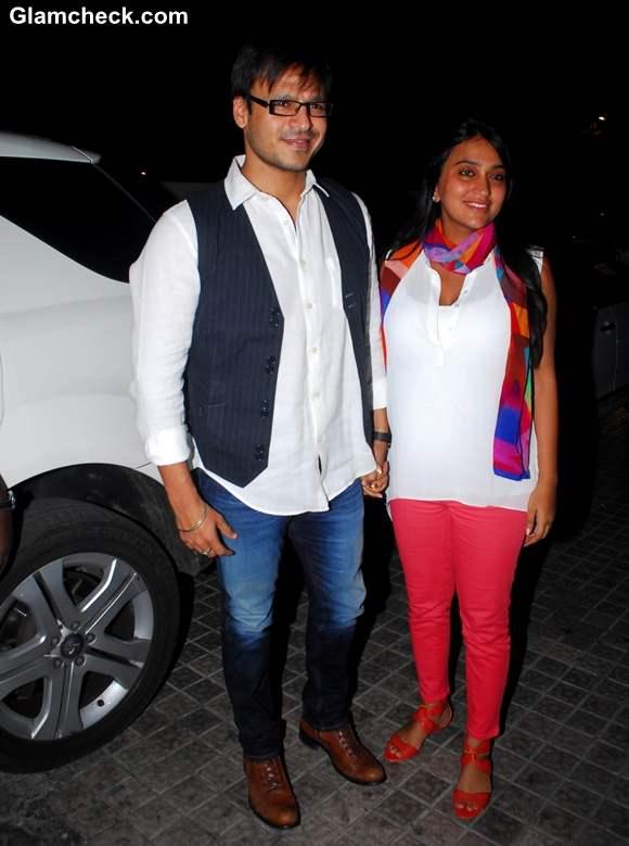 Vivek Oberoi wife Priyanka Oberoi Riteish Film Screening Balak Palak