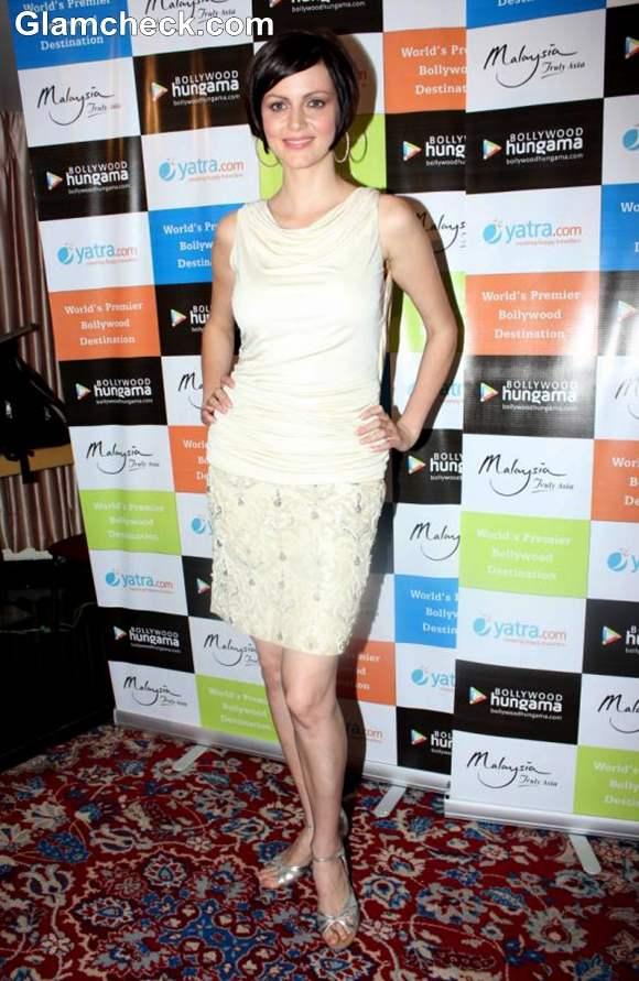 Yana Gupta Demure In Off-White dress