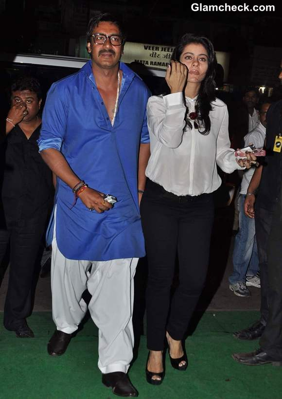 kajol ajay devgan at Sunil Shetty R House Store Launch in Worli Mumbai