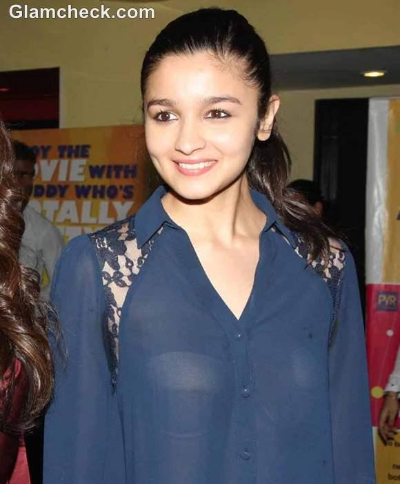 Alia Bhatt Reveals Underwear in Sheer Shirt at Murder 3 Screening