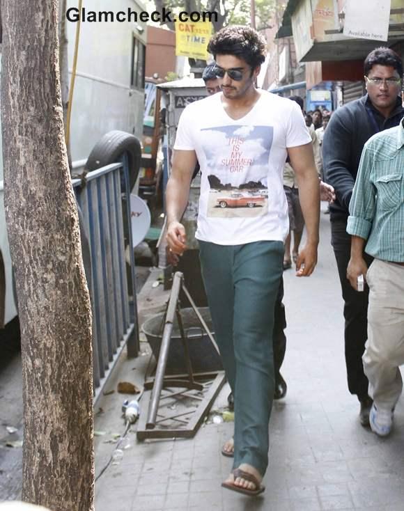 Arjun Kapoor shoots for his upcoming Movie Gunday in Kolkata