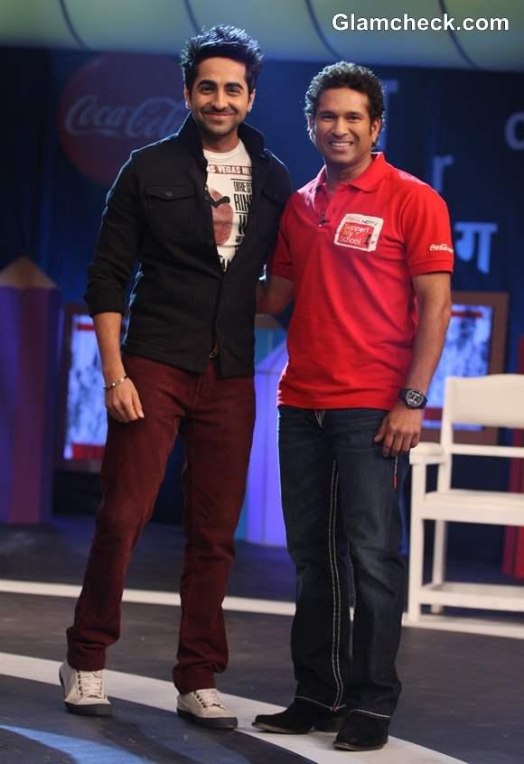Ayushman Khurrana 2013 NDTV Coca Cola Support My School Campaign