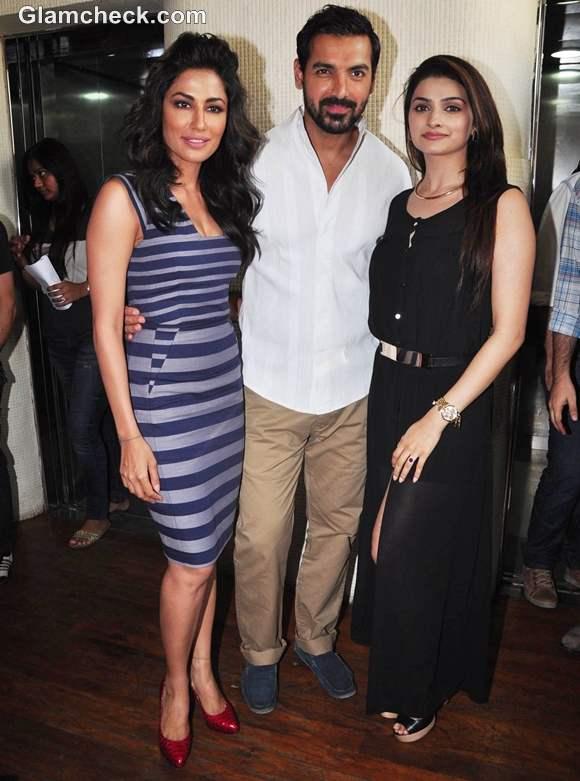 Cast of I Me Aur Main Promote Film in Mumbai