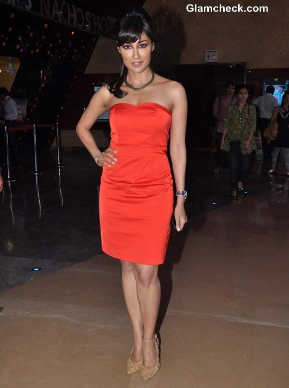 Chitrangada Singh red dress