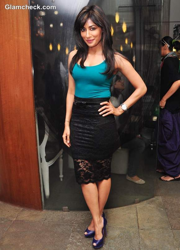Chitrangada Singh Shows How To Style Lace skirt